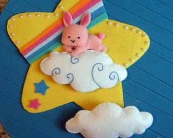 Bunny!  Custom Birth bow-Birth Ribbon