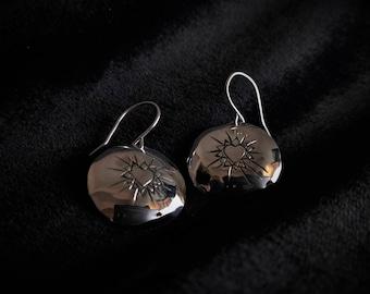Sterling Silver Bursting Heart Earrings