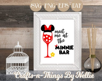 Minnie Wine Glass SVG