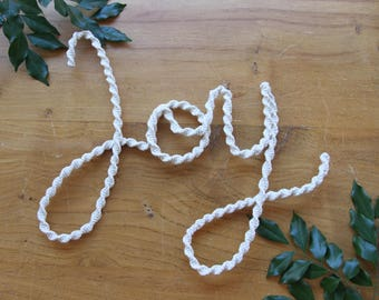Macrame Hanging Word - JOY -