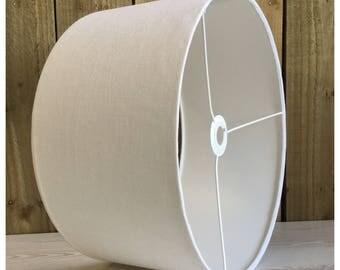 100% White Linen Fabric Drum Lamp Shade Lightshade Various Sizes 25cm / 30cm / 40cm / 45cm / 50cm / 60cm / 70cm