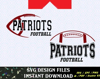 Patriots Football SVG Vinyl Cutting Decal, for Mugs, T Shirts, Cars  SVG files for Silhouette Cameo Cut Files,  SVG  Decal