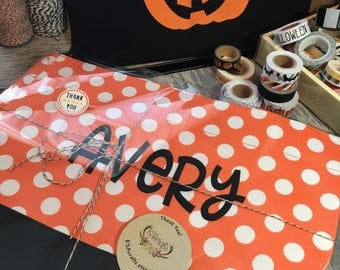 Halloween Bucket, Halloween Tote, Halloween Bag
