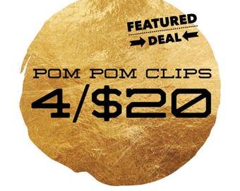 Planner Clip Bundle - Choose 4 for 20 -Planner Accessories - Pom Pom Clips
