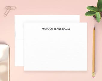 Personalized Note Cards, Margot Tenenbaum, Wes Anderson, Personalized Thank You Cards, Personalized Stationery Set