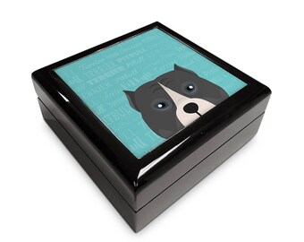 Adorable Pitbull Inspired 6x6 Memory Box