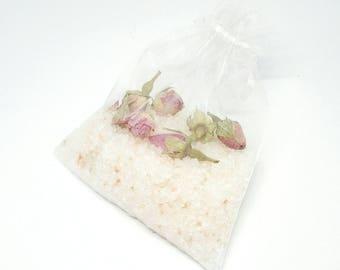 Rose Bath Salts   Bath Soak with essential oils   Aromatherapy Gift   Natural Skincare   Vegan Beauty