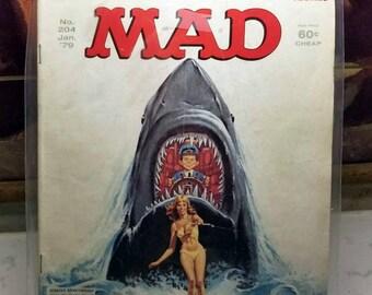 Mad Magazine: January 1979, #204 - Jaws II/The Hulk (1979)