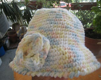 Multicolored cotton crochet baby Hat