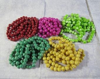 8mm Imitation Regalite Spray Painted Glass Round Beads (B20d)