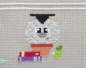 Einstein the Cactus Cross Stitch Pattern PDF | Brain Cactus | Prickly but Cute Stitch-a-Long | Easy Modern Beginners Counted Cross Stitch