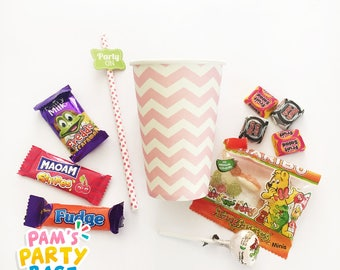 Pre-filled Party Favor Paper Cups
