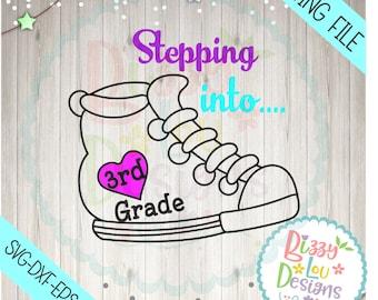 third grade svg, DXF, EPS cut third grade cut file 3rd grade svg  svg back to school svg school cut file svg back to school design
