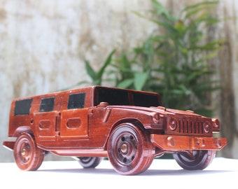HUMMER car - Wooden handmade - SUV model