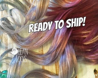 Clip in hair extensions for aspiring mermaids by oceanlockshair ready to shiphair extensions clip in ombre hair extensions plum hair pmusecretfo Images