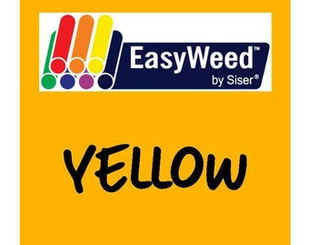 Siser EasyWeed Heat Transfer Vinyl - HTV - Yellow