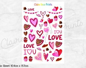 VALENTINES DAY Planner Stickers