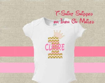 First Birthday Pink Gold Birthday First Birthday Baby Girl Digital File Printable Download Iron On Transfer