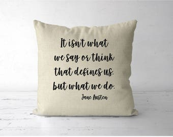 Jane Austen Quote Pillow, Sense and Sensibility pillow gift, Jane austen gift, literary quote print, book lover pillow, book lover gift