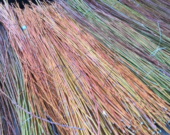 """Dried Willow Stems / Weaving / Basketry Willow / Crafting / Home Decor / 25 Stems / 36""""-48"""" Length / Hurdles"""