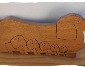 Dachshund Dog in Wood