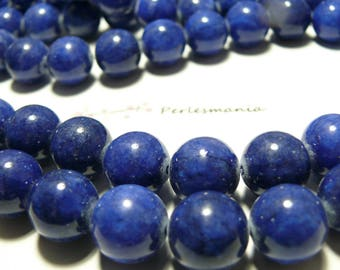 2 tinted jade lapis lazuli 18mm beads