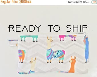 20% OFF SALE Llama Pencil Pouch // Money Bag // Organizer // Travel Bag // School Supplies Bag // Ready To Ship