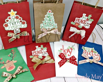 Christmas Goodie Bags, Christmas Party Bags, Christmas Gift Bags, Christmas Party Favor Bags, Christmas Treat Bags, Christmas Bags
