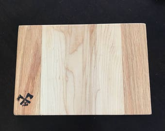 Maple and Red Oak Cutting Board