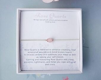 rose quartz choker, dainty choker, rose gold, silver choker, chain choker, delicate necklace, dainty chain choker, inspirational jewellery