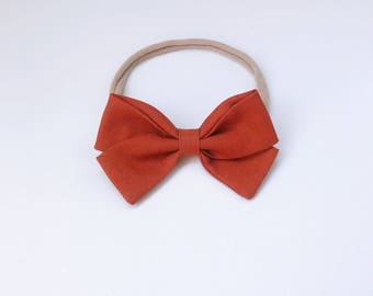 Charley - classic rust signature bow heaband