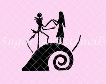 Jack and Sally stencil Nightmare before Christmas NB300137