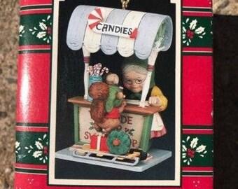 Vintage Enesco TREASURY CHRISTMAS ORNAMENTS,Santa's Sweets