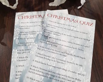 Trivia Christmas / New Years Quiz / Party Game: 4 Rounds - 40 Questions & Answers