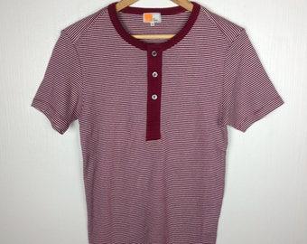 Rare !!  EZ by ERMENEGILDO ZEGNA Italian Luxury Fashion Stripes T Shirt Medium Size