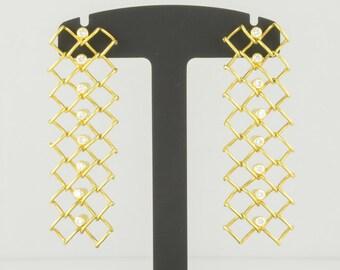 Earrings • gold • brilliant • 18 K