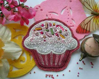 Buy brooch ,brooch with beads,buy embroidered brooch,brooch hand embroidery