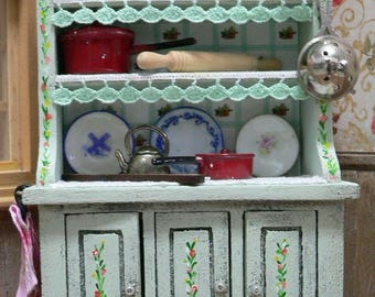 Reduced code FOREVER cupboard to House of dolls 1:12, furniture and furnishing for cottage of dolls with accessories