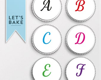 Spell anything you wish, Letters cupcake toppers, edible