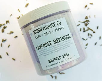 LAVENDER MERINGUE | Whipped Soap