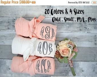 SUMMER SALES Bridesmaid Robes set of 8,  Bridesmaid gift, plus size robes, Bridal Party gift, monogram robe, bridal party robes, bride robe