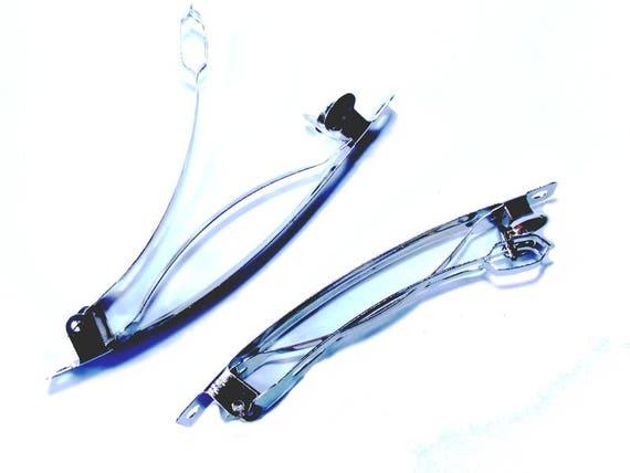 Hair clip silver 78mm x 1
