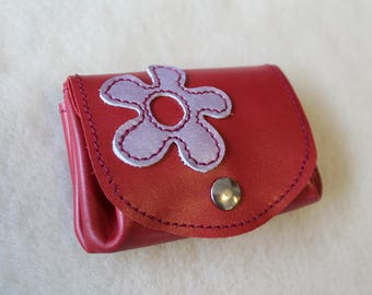 leather wallet. wallet; Flower wallet, woman wallet
