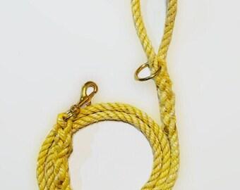 Yellow York, Maine Reclaimed Rope Leash