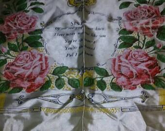 WWII souvenir pillow case.