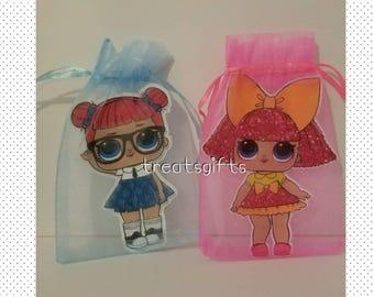 LOL surprise dolls birthday - LOL dolls tulle bags- LOL surprise- lol dolls Party favor- lol dolls goodie bag- lol dolls birthday party