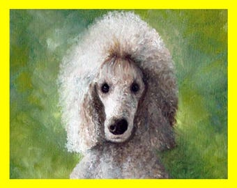 Oil painting dog, white dog paintng, dog lover art, dog portrait drawing, dog owner gift, dog dad gift, your dog portrait,  christmas gifts