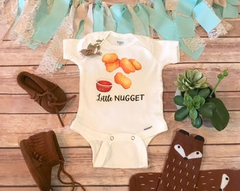Chicken Nugget Baby Onesie®, Hipster Baby, Funny Baby Onesies, Unique Baby Gift, Unisex Baby Clothes, Fast Food Onesie,Little Nugget,Brother