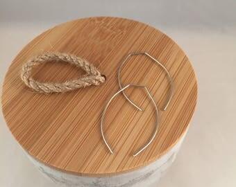 Sleek wire earrings, lightweight, easy to wear