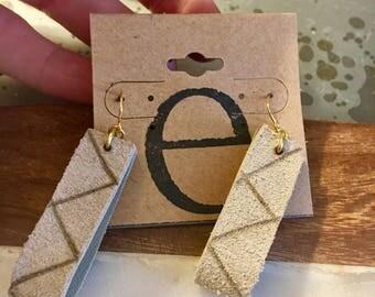 Aztec Genuine  Leather Loop Earrings